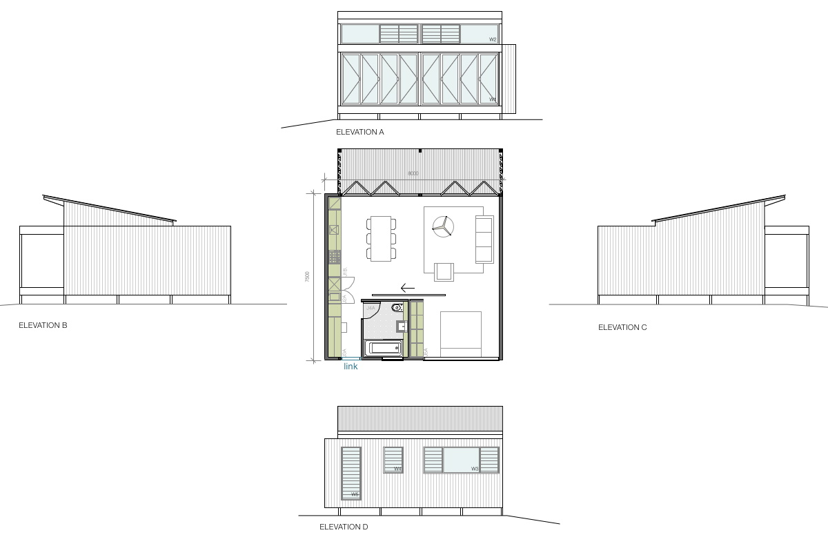 granny flat plan for 1 bed dwelling creative spaces australia